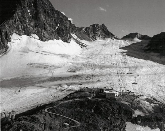 Die Skipiste am Schaufelferner Gletscher. Hier lag Duncans Leiche im Eis begraben.
